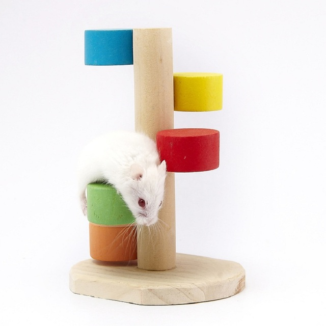 Special Design Natural Wooden Hamster Toy Mouse Gerbil Rat Chew Toys ...