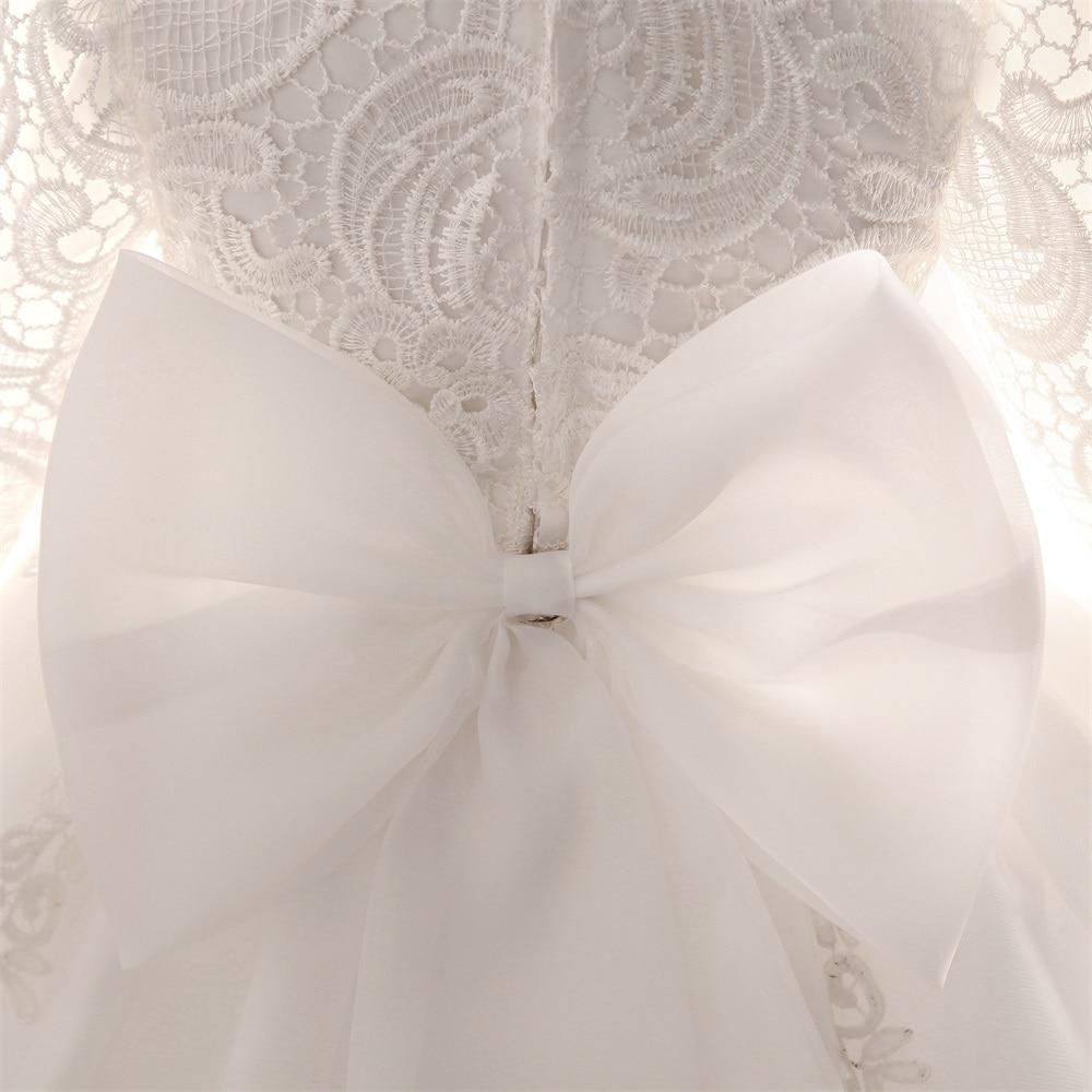 Elegante Abito da sposa Ragazza Battesimo ragazze Vestiti Del Bambino  Appena Nato 1 anno Di Compleanno infantile Principessa del Vestito Della  Ragazza ... 8b36011a4ea