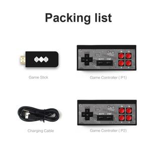 Image 5 - RETROMAX HDMI 4K Video Spiel Konsole Zwei Spieler Bauen in 568 Retro Klassische Spiele Wirless Controller HDMI Ausgang