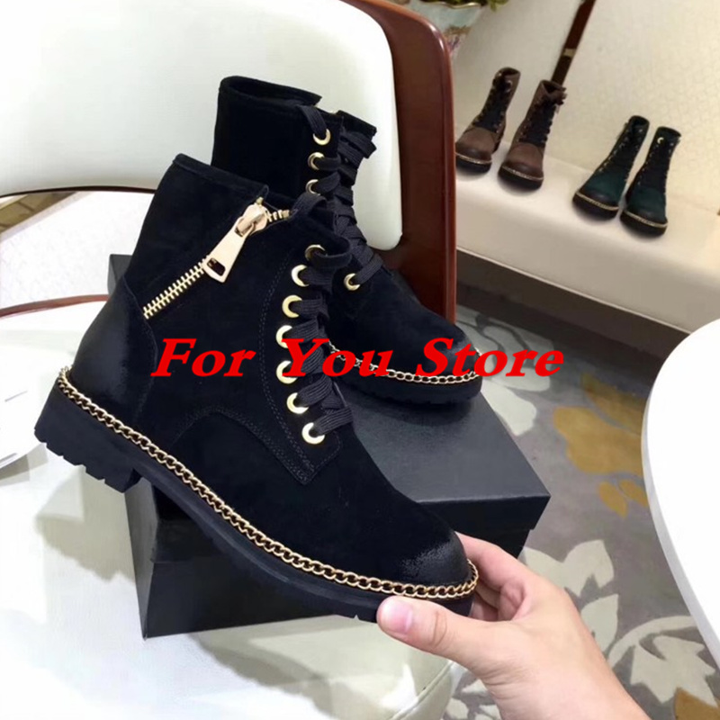 Gold Side Zip Women Boots Round Toe Low Heel Luxury Brand Short Booties Front Lace Up Shoes Retro Stylish Super Star Runway Shoe miquinha round toe women boots mixed color short booties luxury brand women cool runway fashion star high heel boots buckle shoe