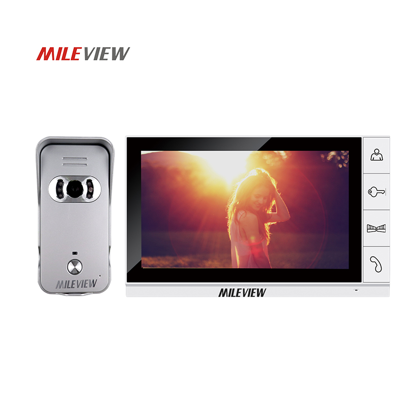 Brand New Wired 9 inch TFT White Screen Video Door Phone Intercom System Kit Set With Night Vision Outdoor Camera Free Shipping 7inch video door phone intercom system for 5apartment tft lcd screen 5 flat indoor monitor with night vision cmos outdoor camera