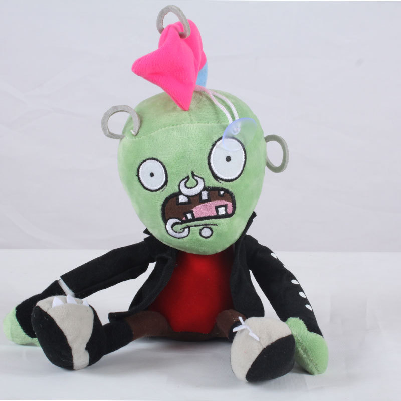Newest 30cm PVZ Plant Vs Zombies Plush Toys Chicken Head Zombies Plush Toy Dolls For Kids Gift new arrival 30cm plants vs zombies pvz 2 chicken wrangler zombie plush toys soft stuffed toys doll for kids children xmas gift
