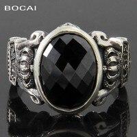 Стиль прозрачный голубой циркон поверхности 925 серебряное кольцо