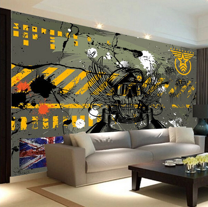 Aliexpress com Buy Graffiti in green camouflage LOFT Abstract bedroom TV  background wallpaper cool stereo self. Camo Bedroom Wallpaper   PierPointSprings com