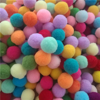 Plush Ball Large Packaging Multicolor DIY Decorative Ball 25mm 1 Pack 1000pc Pomegranate Fluffy Home Decorative Flower Crafts