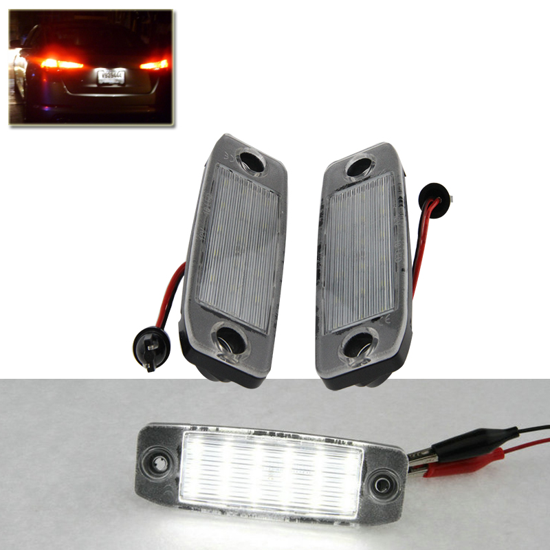 Plug-N-Play Led Number License Plate Lights Lamp For Hyundai Sonata i40 i45 11-14 Direct Fit Xenon White Auto Car External Lamps direct fit for kia sportage 11 15 led number license plate light lamps 18 smd high quality canbus no error car lights lamp