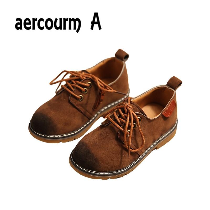 Aercourm A 2017 Kids Boys Sko Forår Nye Drenge Børnesko Retro Sko Lav Hjælp Baby Sneakers Girls Martin Boots Lacing