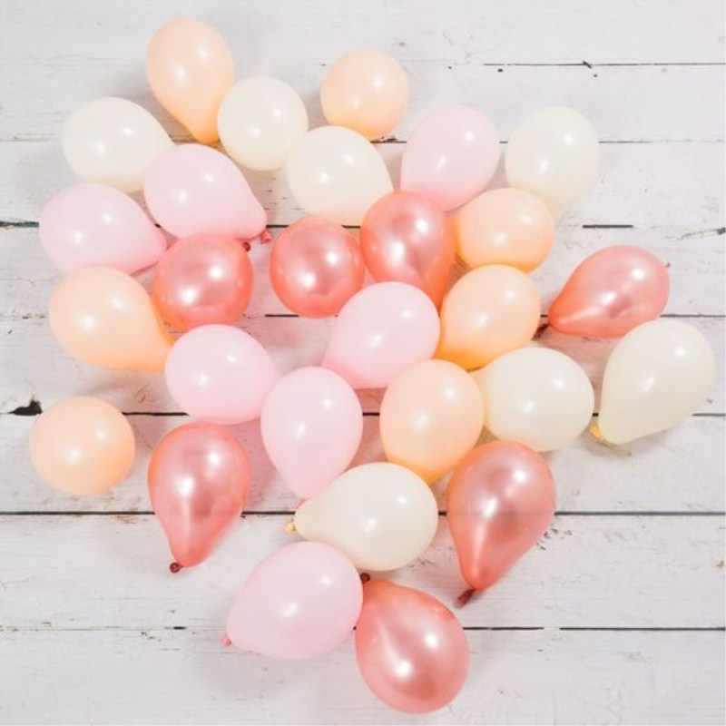 Kuchang 10pcs 5 Inch Pearl Latex Balloon Mini Rose Gold Champagne gold Balloons Birthday Party Supplies Inflatable Wedding Decor