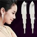 925 Silver Long Tassel Ear wire Earrings Female High Quality Handmade Lady Earrings Thailand Crafts