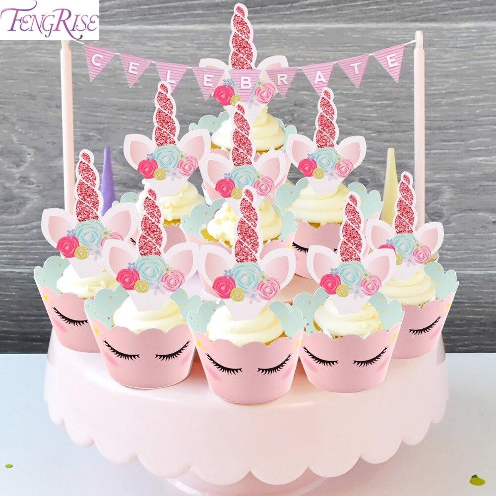 Kuchen Deko Einhorn Lecker Und Bunte Kinder Kuchen Mit Einem