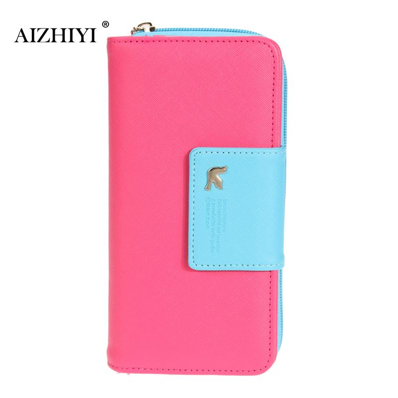 Fashion Wallet Women Luxury Female Carteira Feminina Long Wallets Ladies PU Leather Zipper Purse Card Holders Clutch Money Bag silver stone pattern long clutch wallets women pu leather coin purse brand female card holders wallet elegant ladies evening bag