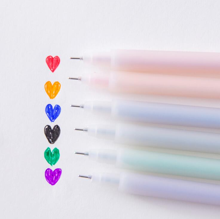 Simple Transparent Matte Watercolor Gel Ink Pen Promotional Gift Stationery School & Office Supply Birthday Gift metal ballpoint pen magnetic think ink pen anti stress for fidget spinner focus promotional gifts school supplies stationery