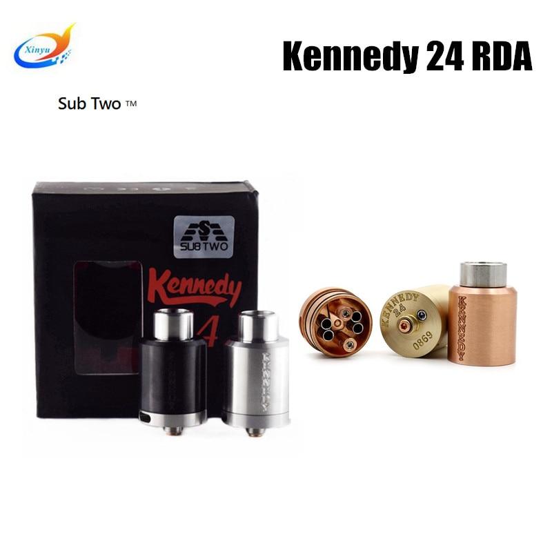 Kennedy 24 RDA 24mm Diameter rebuildable dripping atomizer Vaporizer fit 510 box Mod tank vapor Electronic cigarette RDTA