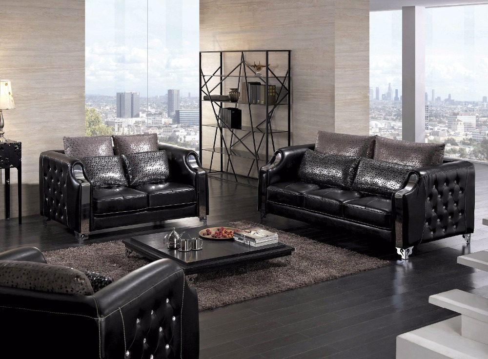 Buy 2016 modern time limited top fashion for Leather living room sets
