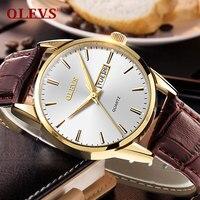 OLEVS Men's Sports Quartz Watch Men Top Brand Luxury Designer Watch Man Quartz Rose Gold Clock Male Fashion Relogio Masculino