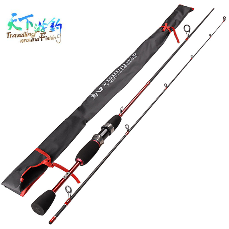 Travelling around Fishing 1.8m UL 2 Sections Spinning Fishing Rod Lure Weight 0.8-5g Vara De Pescar Fishing Rods Canne A Peche