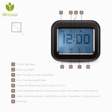 Digital Kitchen Timer Large Touch Sensor LCD Display Loud Clock alarm for kitchen tool cooking baking time