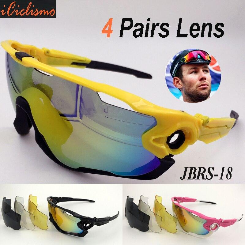 Prix pour Polarisées Vélo Lunettes de Sport SunglassesUV400 Lunettes Vtt Vélo Lunettes Top Vélo Lunettes avec 4 Lentilles et Paquet