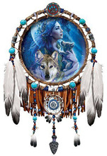 DIY diamond embroidery Feather wolf 5D  painting Cross Stitch full round Rhinestone mosaic home decoration