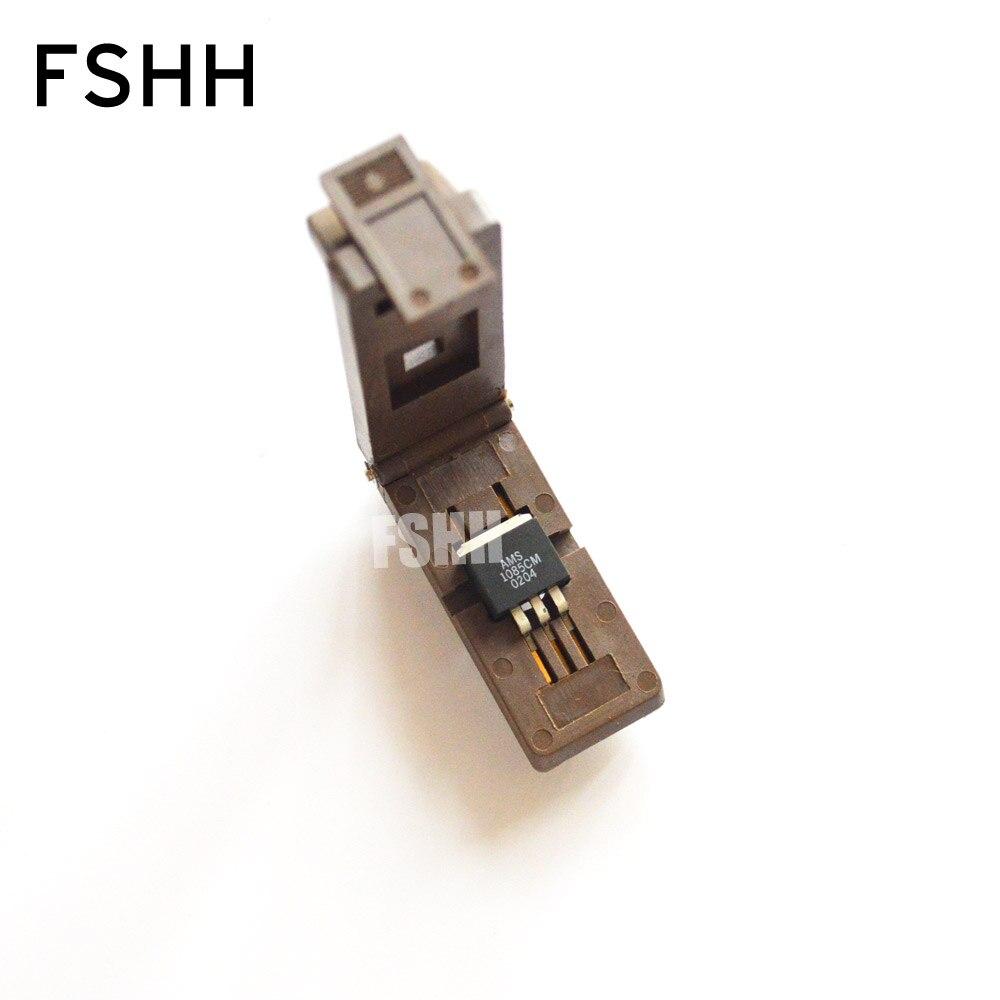 TO-263-3L Burn-in Socket TO-263-3 TO263-3 IC Test Socket/IC Socket(Flip Test Seat)