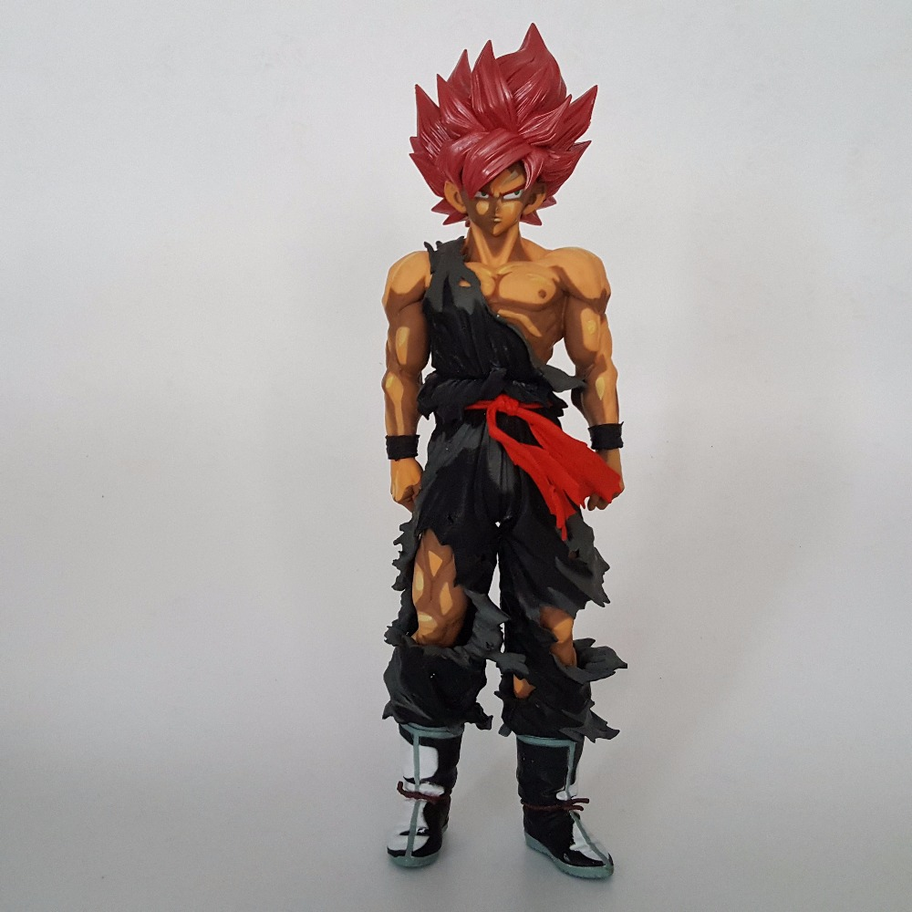 Dragon Ball Super Black Goku Zamasu 340mm PVC Action Figure Anime Dragon Ball Z Super Saiyan Collectible Model Toy dragon ball dxf the super warriors vol 3 super saiyan rose gokou black and vegetto pvc figure collectible model toys kt4201