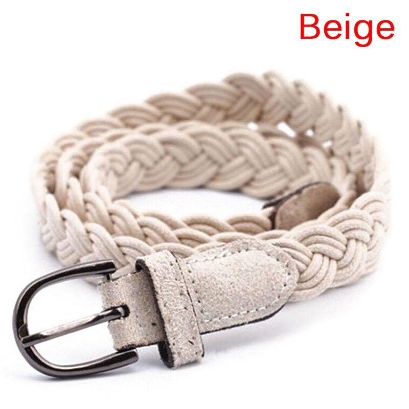102cm Women Brown White Weave   Belt   Hemp Rope Braid   Belt   Female   Belt   For Dress Clothing 6 Colors