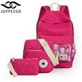 Joypessie adolescente meninas Linho mochila 3 Pçs/sets para Mulheres canvas Escola BookBag mochila designer de mochila mochila mochila