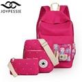 Joypessie adolescentes mochila De Lino 3 Unids/set para Mujer lienzo School BookBag mochila de diseño mochila mochila mochila