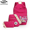 Joypessie teenage girls Linen backpack 3Pcs/Sets for Womens canvas School BookBag designer backpack rucksack mochila knapsack