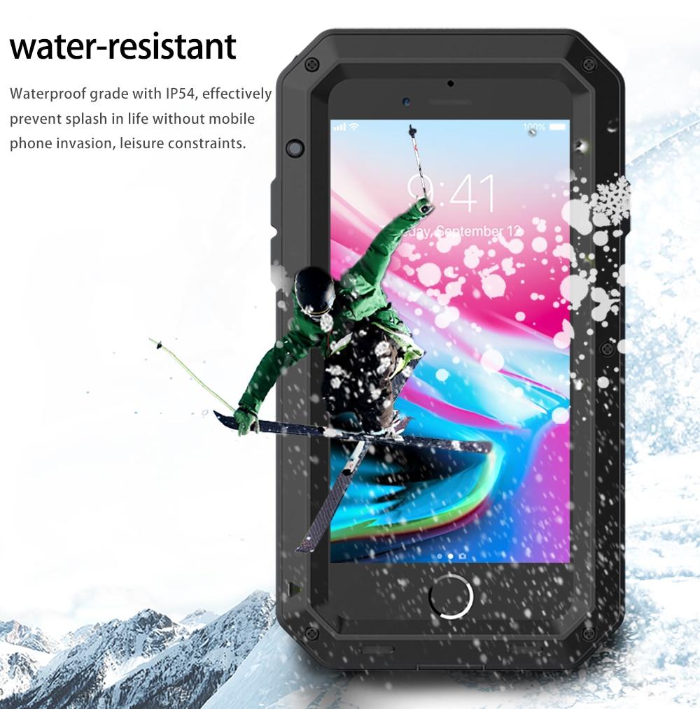 HTB1f4umeQ9WBuNjSspeq6yz5VXaU Heavy Duty Protection Doom armor Metal Aluminum phone Case for iPhone 11 Pro Max XR XS MAX 6 6S 7 8 Plus X 5S 5 Shockproof Cover