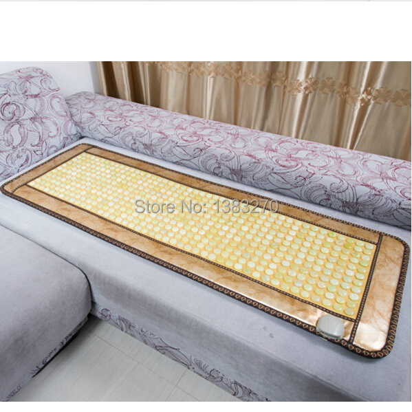 Hot selling Natural jade stone mat heated mat heating therapy Jade mattress Physical therapy cushion health care heating jade cushion mattress natural tourmaline physical therapy mat heated jade mattress 1 2x1 9m free shipping