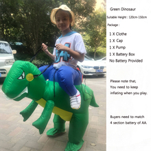 Green Dinosaur Inflatable Clothing Halloween Christmas Carnival Party Toys Mount