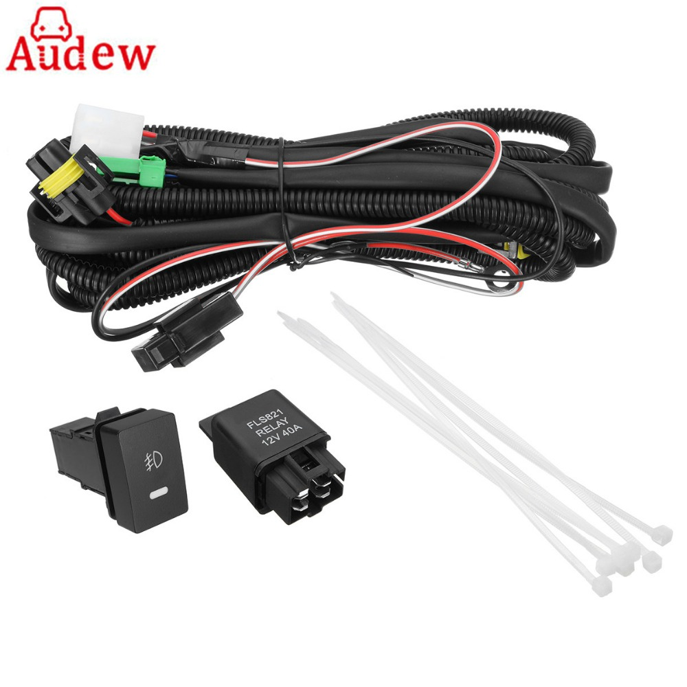 h11 fog light wiring harness sockets wire led indicators switch automotive relay for ford honda nissan acura [ 1000 x 1000 Pixel ]