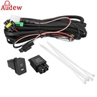 H11 Fog Light Wiring Harness Sockets Wire + LED Indicators Switch + Automotive Relay For Ford/Honda/Nissan/Acura