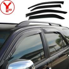 Janela lateral deflector de vento escudo para Toyota hilux fortuner sw4 2012 2013 2014 protetor acessórios do carro guarda chuva viseira YCSUNZ