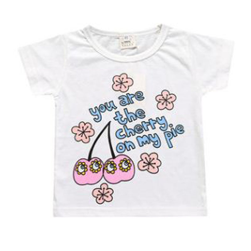2018 summer girls clothes childrens tshirt cotton letter print short sleeves tops tee kid boy clothes free shipping