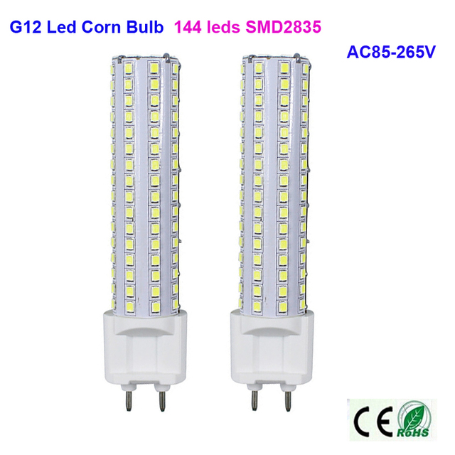 LED corn bulb G12 base 144 leds SMD2835 AC85-265V high-brightness led lighting 360 degree indoor light