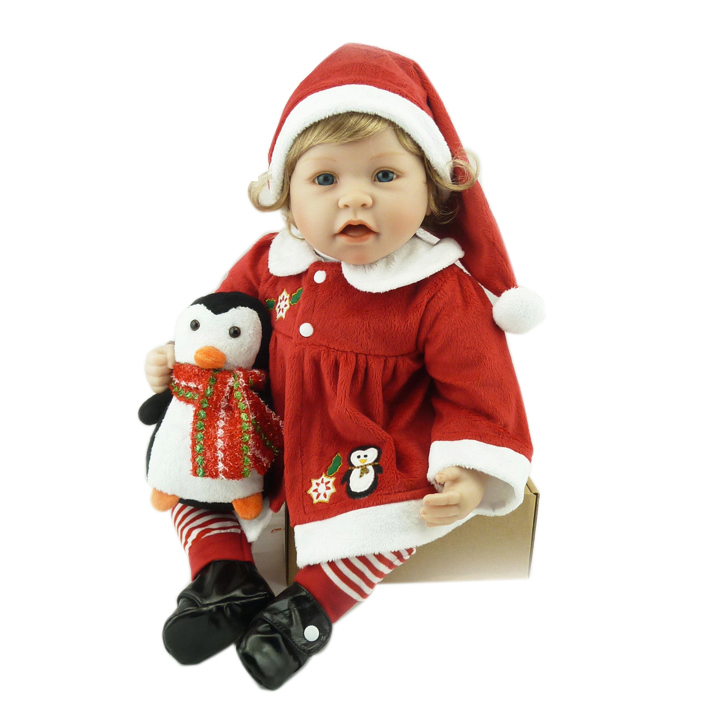 22 Christmas dolls reborn for children gift cloth body silicone vinyl reborn babies dolls bebe gift real boneca reborn22 Christmas dolls reborn for children gift cloth body silicone vinyl reborn babies dolls bebe gift real boneca reborn