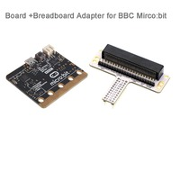 For BBC Micro:bit microbit Mother Board Micro Controller and Micro:bit Breadboard Adapter, for Coding Programming FZ3143+FZ3247