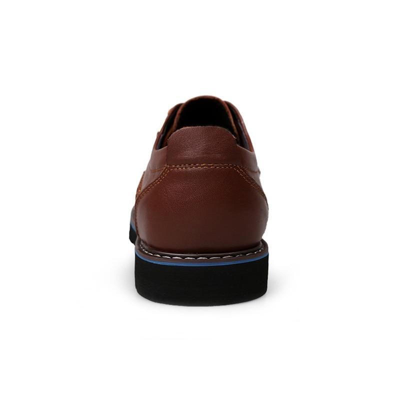 Up Lace Se 48 black Negócios Plus Casuais 38 Sapatos Size Masculinos Do Moda Qualidade Genuíno Vestem Couro Homens Respirável Alta Brown De F8zBqz