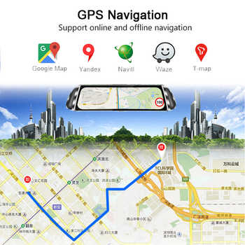 "Anstar 10\"" Rearview Mirror Car Camera 4G Android Dash Cam HD 1080P WiFi GPS Navigation Dual Lens Video Recorder Auto Registrar"