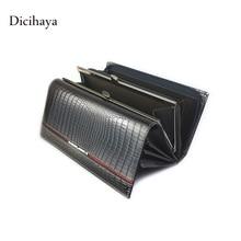 Genuine Leather Women Multifunction Wallet Serpentine Clutch Bags Luxury Women Wallets Patent Leather Designer Brand Lady purse