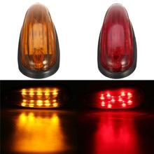 1 шт 6 дюймов светодиодный красный/желтый 10 светодиодный Клиренс грузовик, автобус, прицеп сбоку маркер индикаторы свет лампы 12 V 24 V