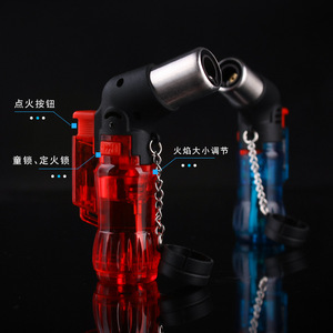 Image 4 - Hot Welding Torch Lighter Butane Jet Lighter Metal Turbo Portable Spray Gun 1300 C Windproof Cigar Pipe Lighter Outdoor NO Gas