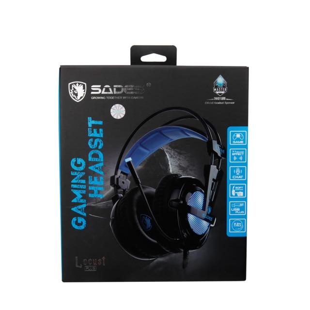 SADES Locust Plus Headphones 7.1 Surround Sound Headset elastic suspension Headband Earphones with RGB LED Light for PC/Laptop 6