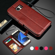 For Samsung Galaxy S7 Case Stand Wallet Flip PU Leather Case For Samsung Galaxy S7 Edge S6 S5 Note 5 J5 Prime A5 2017 Case Strap