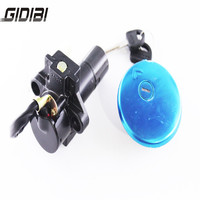 Motorcycle Aluminum Gas Cap Lock Ignition Lock with 2 Keys For SUZUKI GN250