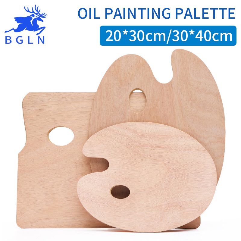 BGLN Wooden Oval and Square Oil Painting Palettes