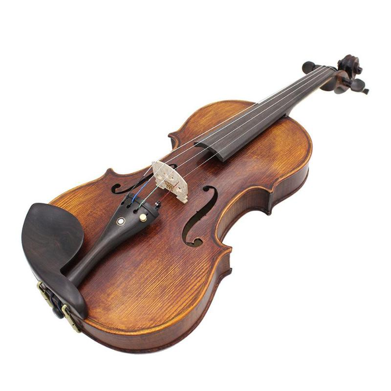 Solidwood Handmade Violin Antique Highgloss Acoustic Fiddle Case Bow Rosin