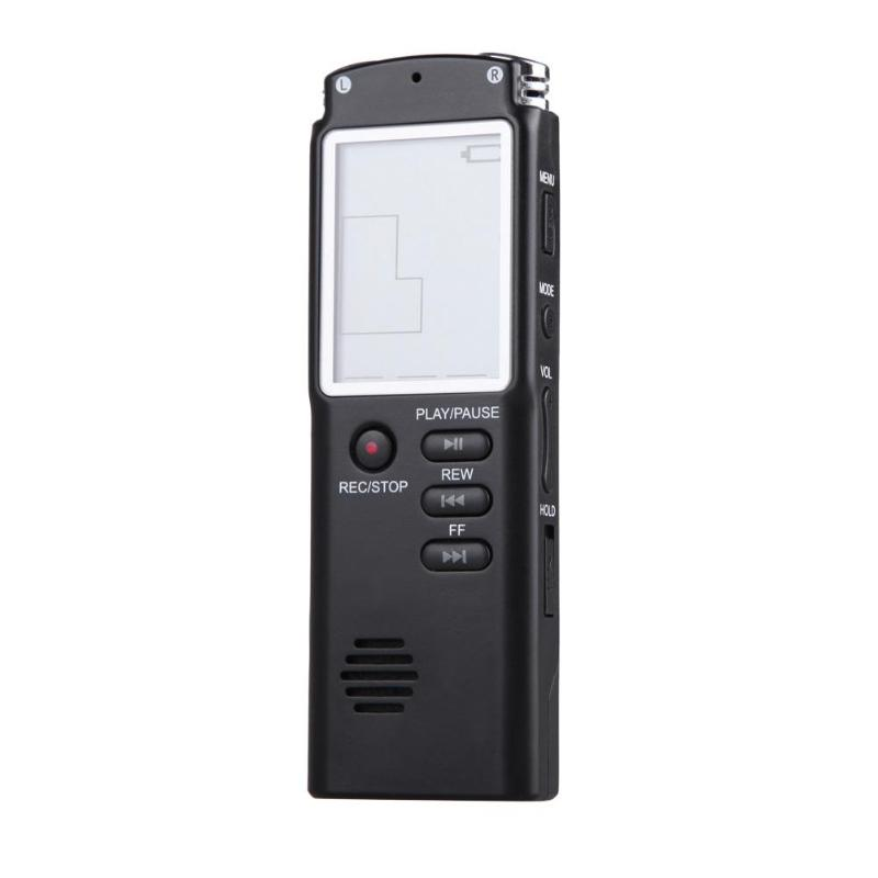 VODOOL 8GB USB Professional Digital Audio Voice Recorder 1.5 inch LCD Screen Dictaphone MP3 Player Meeting Voice Recording Pen rechargeable 8gb 650hr digital usb recording pen mini audio sound voice recorder dictaphone mp3 player with earphone usb cable 2
